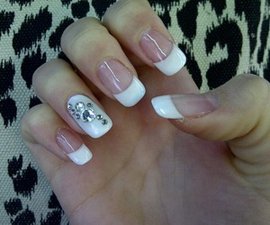 bling, manicure, and white image