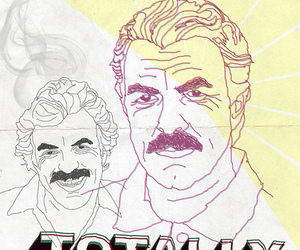 funny, Tom Selleck, and graphic design image