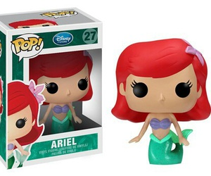 ariel, disney, and funko pop image