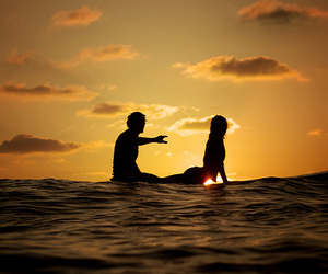 love, couple, and surf image