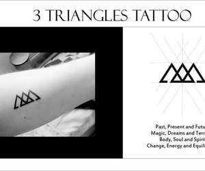 tattoo, black, and triangles image