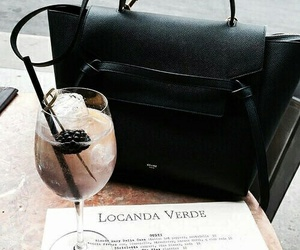 drink, fashion, and bag image