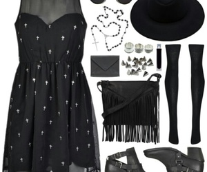 style, black, and dress image