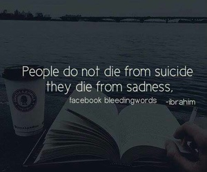 die, sadness, and sucide image