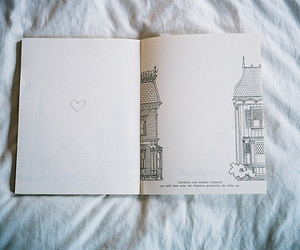 book, heart, and town image