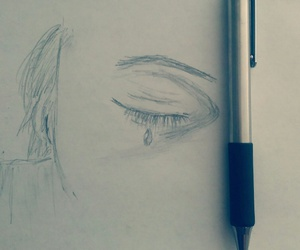 drawings, pencil, and eye image