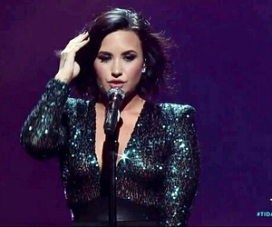 beauty, demi lovato, and glamour image