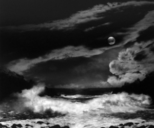 moon and black and white image