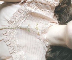 blouse, lace, and flower image