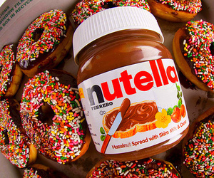 donuts and nutella image