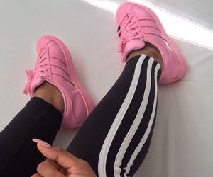 adidas, nails, and pink image