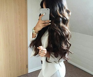 beauty, cabello, and black image