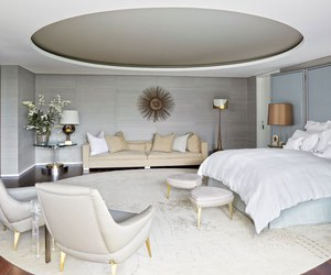 interior design, bedroom, and Architectural Digest image