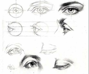 eyes, art, and draw image