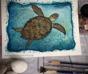art, etsy, and ocean image
