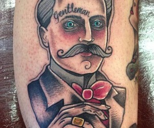 gentlemen, traditional tattoos, and Tattoos image