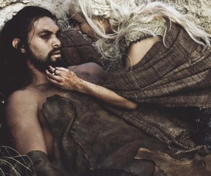 khal drogo, khaleesi, and game of thrones image