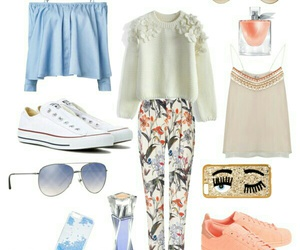 converse, light blue, and Nina Ricci image