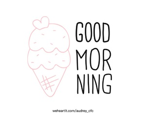 background, good morning, and ice cream image