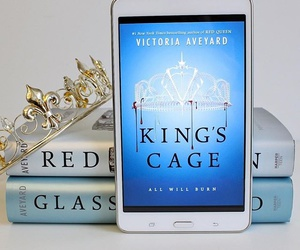 red queen, glass sword, and king's cage image