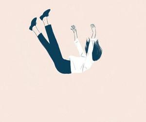 girl, art, and falling image