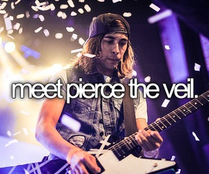 pierce the veil, bucket list, and band image