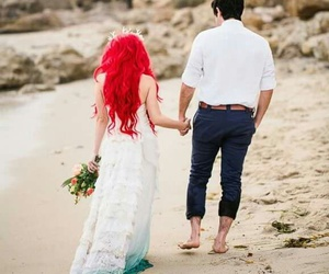 ariel, disney, and wedding image