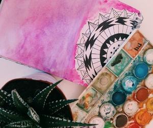 cactus, draw, and mandala image