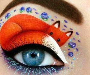 fox, makeup, and art image