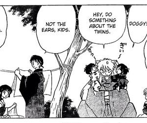 manga, miroku, and sesshoumaru image