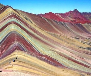 colorful, peru, and rainbow mountains image