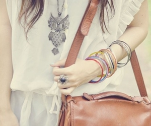 clothes, necklaces, and style image