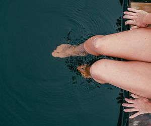 water, photography, and legs image
