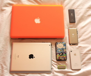 apple, colorful, and gadget image