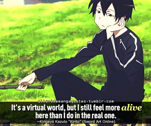 sword art online, quotes, and kirigaya kazuto image