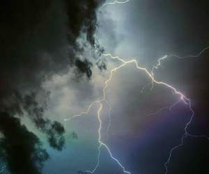 sky, storm, and lightning image