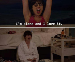 funny, new girl, and alone image