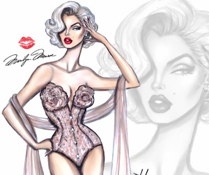 art, draw, and Marilyn Monroe image