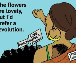feminism, feminist, and flowers image