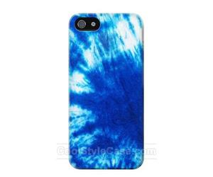 blue, tie dye, and phone case image