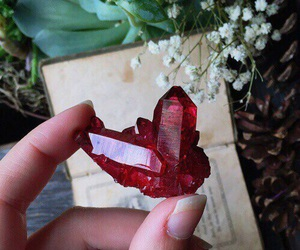 crystal, red, and stone image