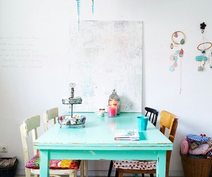 interior design, table, and home image