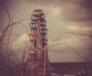 gif, ferris wheel, and vintage image