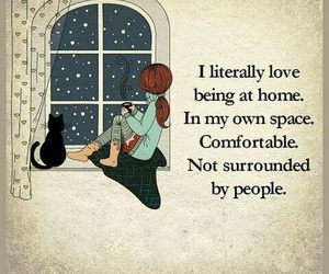 home, alone, and comfortable image