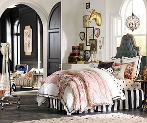 bedroom, chateau, and decor image