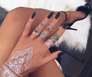 accessories, nails, and beach image