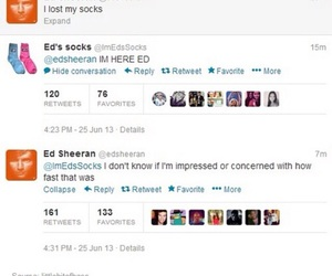 funny, ed sheeran, and twitter image