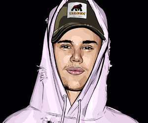 drawing and justin bieber image
