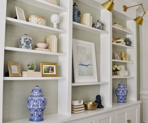 bookcase, decor, and design image