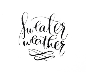 black, white, and sweater weather image